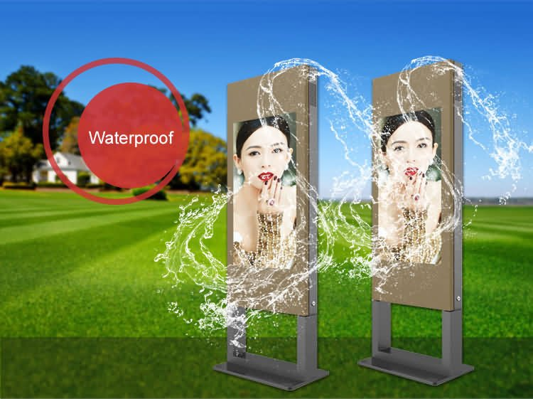 55 inch outdoor touch screen lcd kiosk