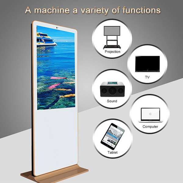 China floor stand digital signage manufacturer with all in one pc