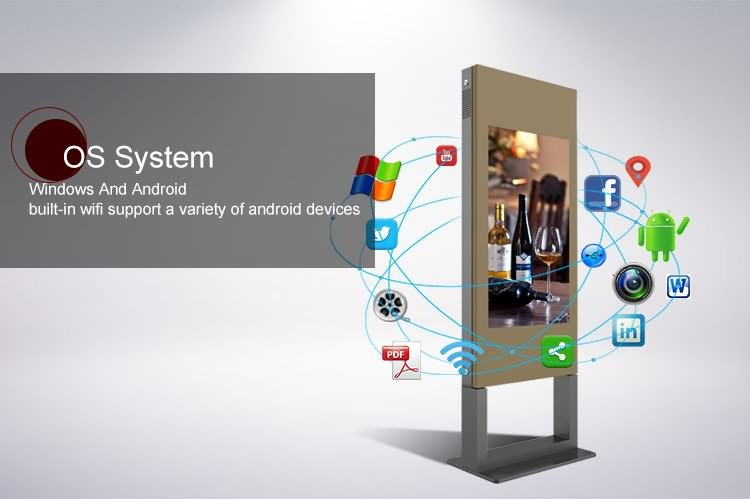outdoor digital signage with cooling system