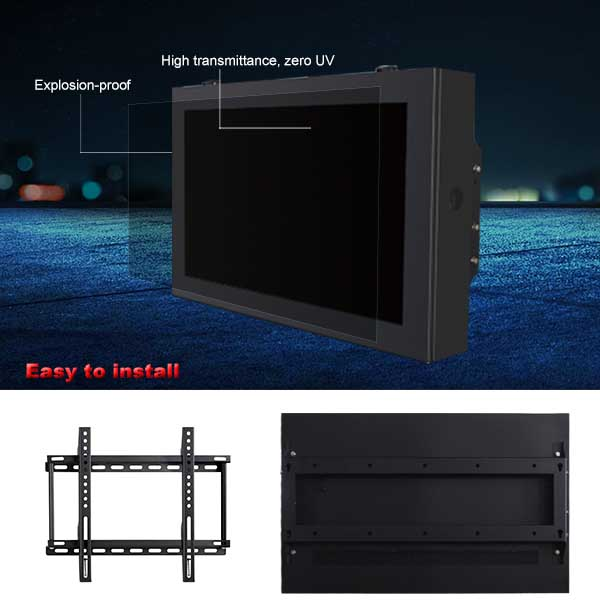 outdoor wall mount lcd player