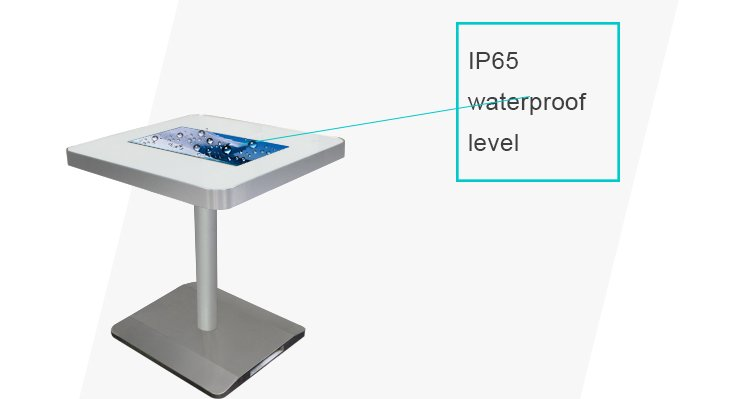 waterproof IP65 interactive coffee table