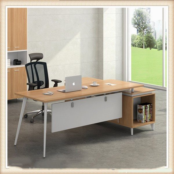 Melamine Wooden Office Furniture Modern Office Table Desk Ul Mfc236