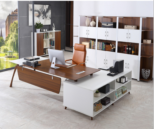 New Design Wooden Office Furniture Fashion Color Office Table Desk