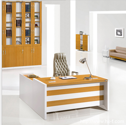 Melamine Wooden Office Furniture Modern Office Table Desk Ul Mfc461