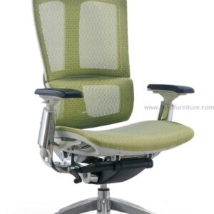 mesh modern chair with headrest and armrest