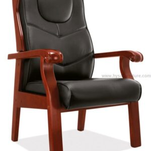 Medium back leather conference chair