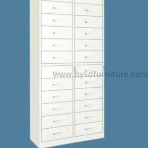 Unique high quality metal 24 drawer